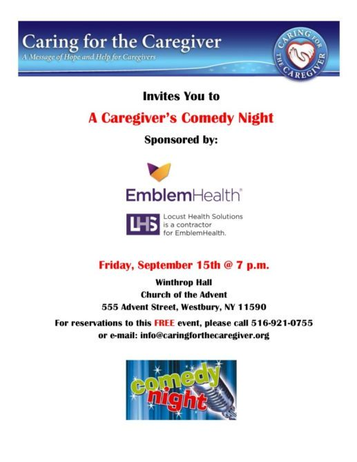 Comedy Night For Caregivers Flyer